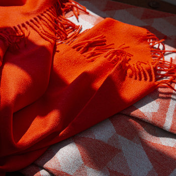 Baby Alpaca Throw - Orange