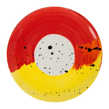 Fabbro Swish Side Plate - Red and Yellow