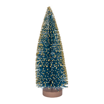 Bristle Tree Ornament - Dark Blue