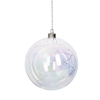 Light Up Iridescent Bauble