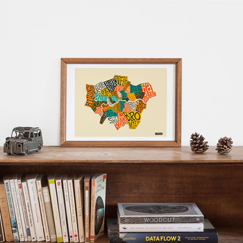 London Boroughs Print - 40x50cm