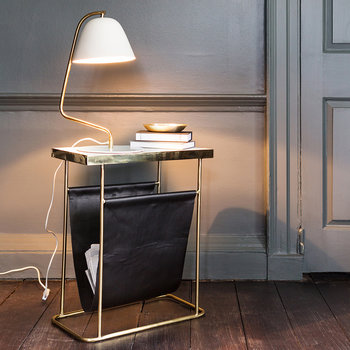 Marble & Leather Side Table