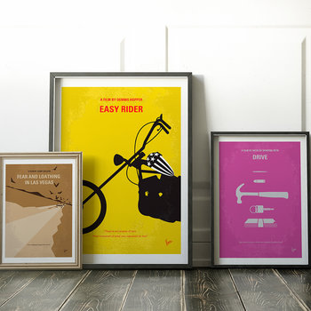 My Easy Rider Minimal Movie Print - 40x50cm