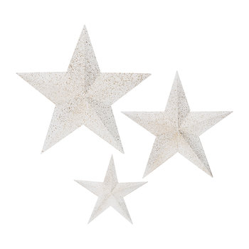 Firwood Star with Gold Fin Ornament - Set of 3