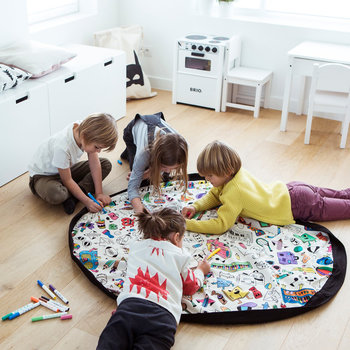2in1 Toy Storage and Play Mat - Color Your Own