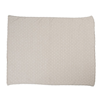 Biscuit Knitted Baby Blanket - 90x120cm - Dune White