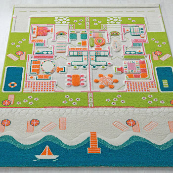 Children's 3D Play Rug - Beach House