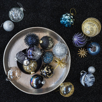 Sputnik Tree Decoration - Navy