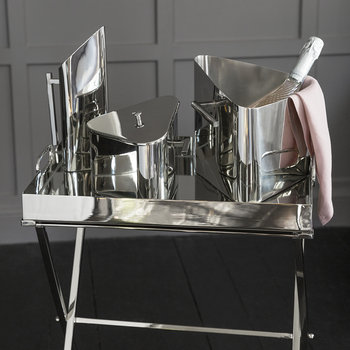 Triangular Ice Bucket - Stainless Steel