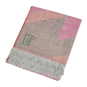 Alpaca Throw  - Ski - Pink/Orange