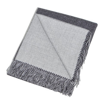 Alpaca Throw Reversible - Charcoal/Gray