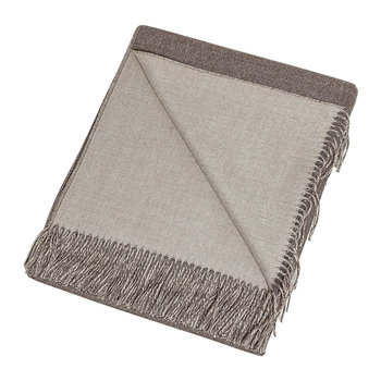 Alpaca Throw Reversible - Cocoa/Oatmeal