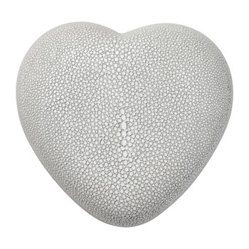 Shagreen Heart Box - Dove