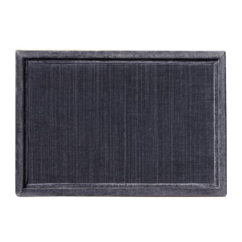 Valentina Velvet Rectangular Tray - Grey