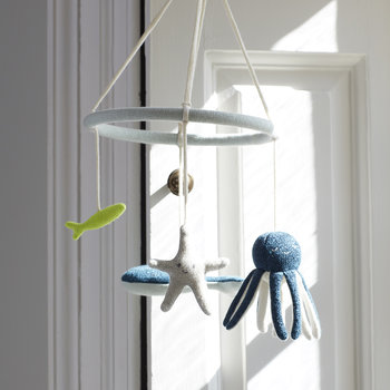 Knitted Baby Mobile - Under the Sea