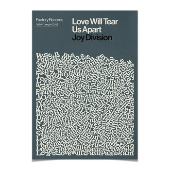 Affiche A2 Love Will Tear Us Apart