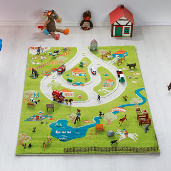 Children's 3D Play Rug - Farm