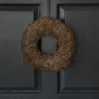 Glitter Grass Wreath - Cashmere Brown