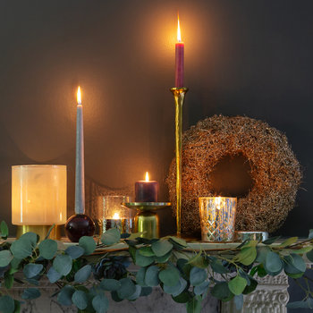 Icicle Candlestick - Gold