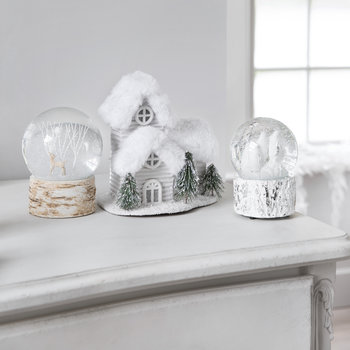 House Ornament - Silver/White