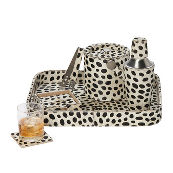 Bandar Hair-On Hide Cocktail Shaker - Dalmatian