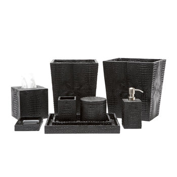 Hawen Tissue Box - Black Croc