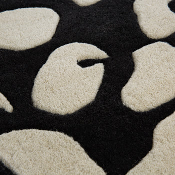 Animal Print Rug - Black/White
