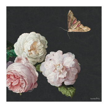 Flower and Butterfly Print - 50x50cm