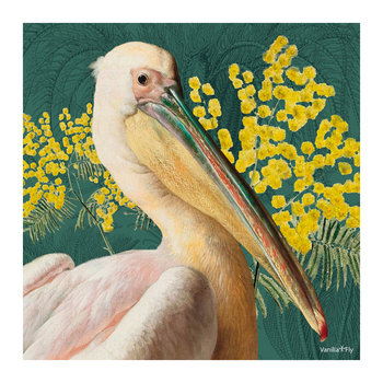 Pelican Floral Print -  Yellow - 50x50cm