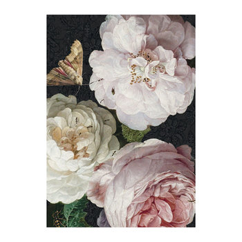 Rose and Moth Print - 70x100cm