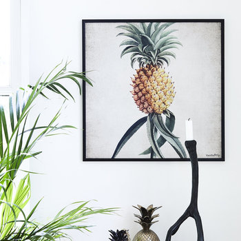 Botanical Pineapple Print - 50x50cm