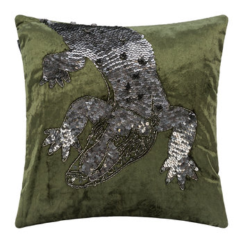 Velvet Animal Cushion - Crocodile - 40x40cm