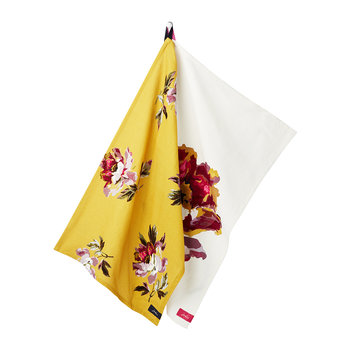 Kitchen Tea Towel - Set of 2 - White Floral
