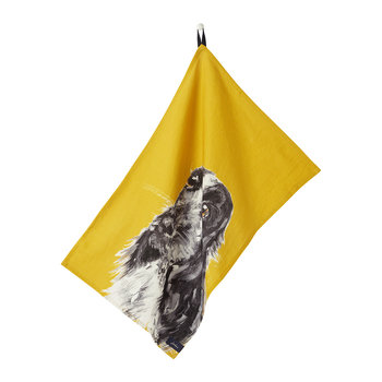 Kitchen Tea Towel - Set of 2 - Gold Dog