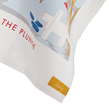 Kitchen Tea Towel - White Dawn - Taking The Plunge