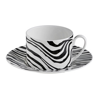 Zebrage Tea Cup & Saucer - Set of 6