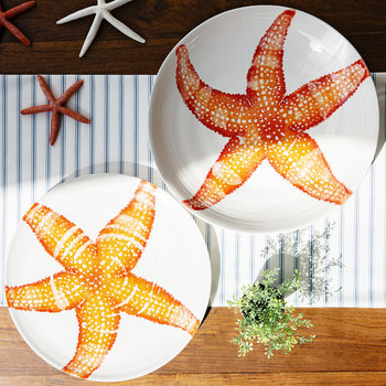 Creatures Starfish Serving Bowl - Orange