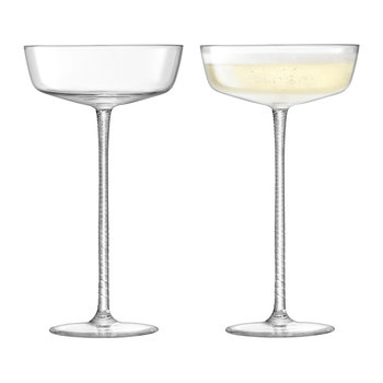 Champagne Theatre Champagne Saucer - Set of 2