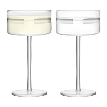 Horizon Champagne/Cocktail Saucer - Set of 2