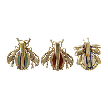 Vintage Bug Clips - Set of 3