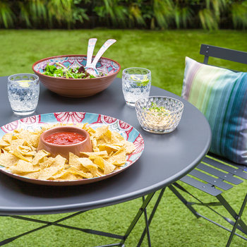 Rio Corte Melamine Chip and Dip Server