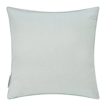 Delphiniums Embroidered Cushion - Mint - 40x40cm