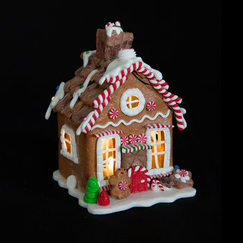 Gingerbread House with Lights Ornament