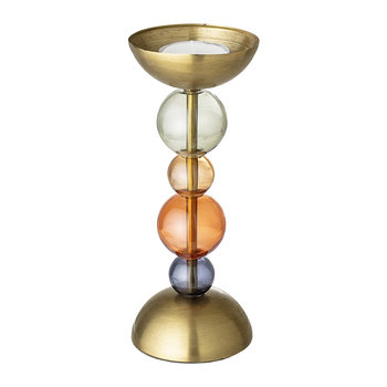 Glass Sphere Candle Holder