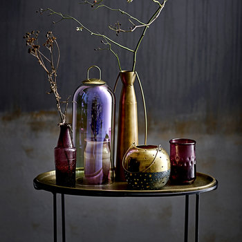 Metal Halo Vase - Brass