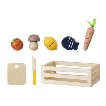 Wooden Toy Food Set - Natural