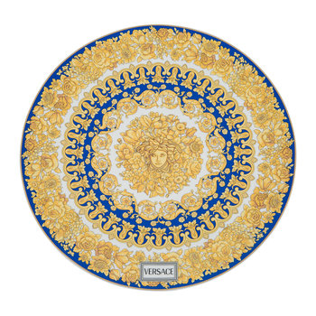 Medusa Rhapsody Charger Plate - Blue