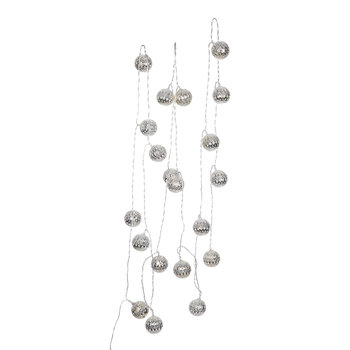 LED Metal Ball Lights - Silver
