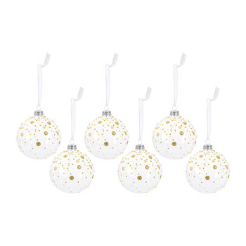 Glitter Dots Bauble - Set of 6
