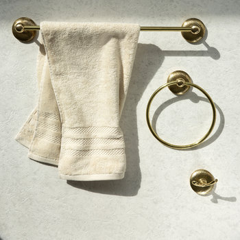 Mottled Towel Ring - Brass